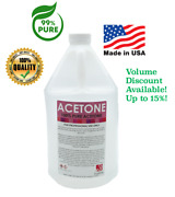 Acetone 100 Usa Pure Nail Polish Remover Profess And Industrial Strength 1 Gallon