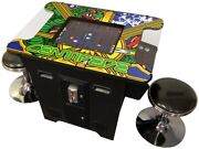 Retro Video Game Console Arcade Cocktail Table 412 Games With Stools