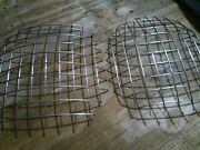 Corvette 1953 1954 1955 53 54 55 Pair Of Head Light Wire Mesh - New Aftermarket