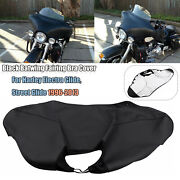 Replacement Black Batwing Fairing Bra Cover For Harley Davidson Flht Flhx 96-13