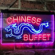 Chinese Buffet Dragon Display Bar Dual Color Led Neon Sign St6-i3095