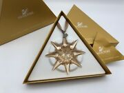 Christmas Star Ornament 2009 Golden Boxed And Zertifikat. Top Condition