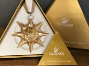 Christmas Star Ornament 2009 Golden Boxed And Zertifikat. Top Zustand