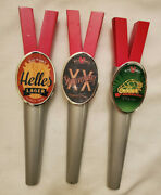 3 Victory Brewing Beer Tap Handle Lot- Helles Lager, Braumeister, Xx Anniversary