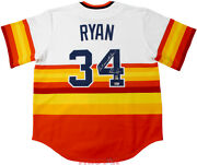 Nolan Ryan Signed Houston Astros Rainbow Jersey Donand039t Mess With Texas Tristar