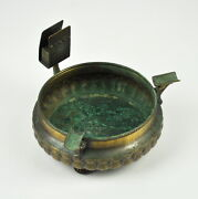 Old Ashtray Brass With Mount For Matches/brass Ashtray