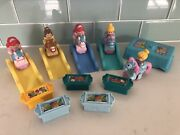 Fisher Price Little People Klip Klop Princess On Horses Lot Of 5 W/ Accessories