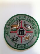 Old Georgia Game And Fish Commission Dnr Police Patch Vtg Cheesecloth Warden