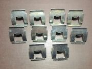 10 Pcs Nors 1953-1966 Vw Beetle Bug Running Board Wide Moulding Clips 113853559