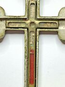 Anddagger Scarce Multiple Saints Relic Theca Double Crucifix Worn By Priest 4 6/19 Anddagger