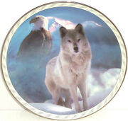 Wolf Eagle Collector Plate Bradford Exchange United Spirit Masters Land Sky Le