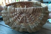 New With Tag Hand Woven Palmer Alaska Ribbed Potato Basket By Local Artist