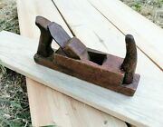 Antique Wood Plane Smoothing Planer Two Handles Carpentry Tool Woodwork