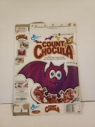 Vintage 1992 Count Chocula Cereal Box With Cut Out Bat Eyes Monsters Toys