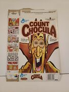 General Mills Count Chocula Cereal Box With Flicker Eyes Late 1990's Monster