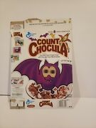 Vintage 1992 Count Chocula Cereal Box With Cut Out Bat Lenticular Eyes