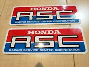 Honda Rsc Stickers Novelty Vintage Set Of 2 From Japan Free Shipping