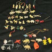 49 Cracker Jack Celluloid Animal Prizes Gumball Charms 1930 - 1940