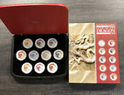 2012 Australia Year Of The Dragon Lunar Series 10 Coin Colorized Set