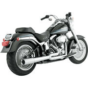 Vance And Hines Chrome Pro Pipe 2-1 Exhaust Megaphone For 86-11 Harley Softail