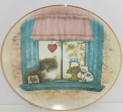 Cat Window Collector Plate Knowles Wistful Morning Purrfect Point View Retired