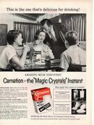 Vintage Advertising Print Dairy Carnation Magic Crystals Milk Instant Family 56