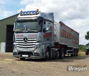 To Fit 19+ Mercedes Actros Mp5 Bigspace Truck Roof Bar + Leds + Spots + Beacons