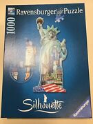 Statue Of Liberty Silhouette Shaped Jigsaw Puzzle New York 1000 Piece Ravensburg