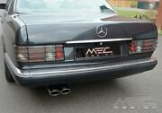 Mercedes Benz W126 380,420 500 560 Se Sel Sec Exhaust W/ Oval Tips