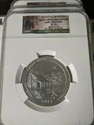 2014 Ngc Sp70 America The Beautiful Atb 5 Oz Great Smoky Coin Early Release