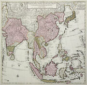 South-east China Original Copperplate Map Covens Mortier 1750