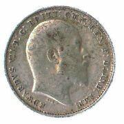 British 3 Pence Silver Coin - Uncrowned King Edward Vii 1902-1910