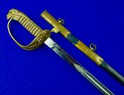 Antique 19 Century Napoleonand039s South American Navy Captains Fund Sword W Scabbard