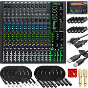 Mackie Profx16v3 16-channel Recording Mixer Usb Bundle With Pro Tools Waveform