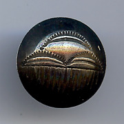Vintage Navajo Indian Silver Stamped Thunder Cloud Button