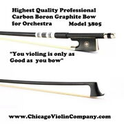 Highest Quality Boron Graphite Violins Bow 4/4 For Orchestra Model 3805