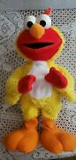 2001 Sesame Street Chicken Dance Elmo By Fisher Price - Sings And Flaps His Wings