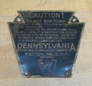 Ppc Pennsylvania Pump And Compressor Co Easton Pa Old Industrial Nameplate Sm Sign