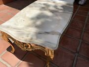 Gold Plated Orocca Marble Table