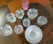 Vintage Set Of 9 Brian Higer Hand Blown Cups 30+ Yrs Old. Collectors Items