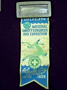 1939 Atlantic City Universal Safety Congress And Exposition Ad Ribbon Bookmark