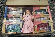 Vintage 50s Eegeeand039s Blonde Liland039 Susan Walking Doll Store Display Box W/6 Outfits