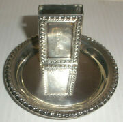 Vintage Sterling Silver Match Box And Ashtray Matches Cover