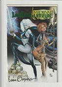 Lady Death/medieval Witchblade 1 Nm Green Foil Dynamic Forces Signed 1/199