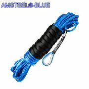 50and039 X 3/16 Amsteel Blue Mainline Synthetic Winch Rope Line Cable Utv Atv
