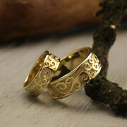 14k Yellow Gold Couples Valentine Real Band Sets All Sizes Available