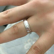 Diamond 0.35 Ct Couple Valentine Rings 14 K White Gold Real Band Sets All Sizes