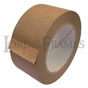 Bulk Boxes Of 50mm Eco15+ Brown Paper Self Adhesive Backing Tape Picture Framing