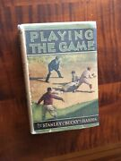 Playing The Game By Bucky Harris With Dust Jacket - 1925 Grosset And Dunlap