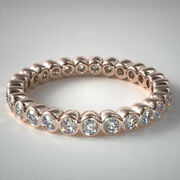 18k Rose Gold Real 1.25 Ct Diamond Engagement Eternity Band 5 6 7 8 Sale